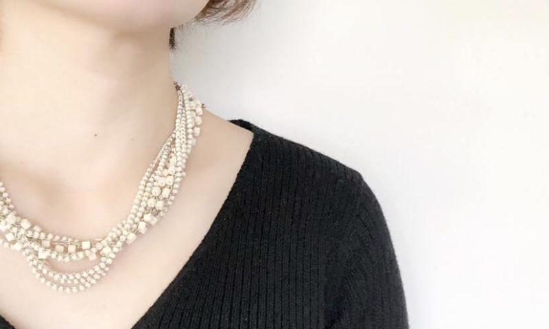 鎖編みのネックレス