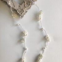ロングネックレス 鎖編み