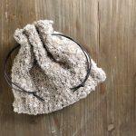編み物 棒針 巾着