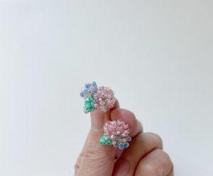 紫陽花 ピアス イヤリング